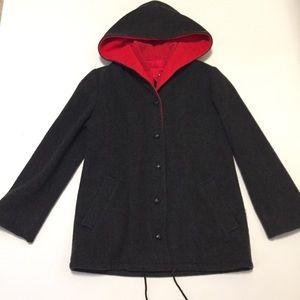 Mackintosh VestCoat Womens 6 Winter Coat Red Black